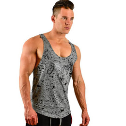 $enCountryForm.capitalKeyWord Australia - New Tank Tops Sleeveless Vest Top Undershirt Casual Fitness Mens Casual Print Bodybuilding Red Gray Black