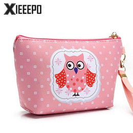 $enCountryForm.capitalKeyWord NZ - Cartoon Owl Cosmetic Bag Travel Organizer Functional Zipper Makeup Pouch Case Beautician Toiletry Kit Wash Make Up Beauty Bag