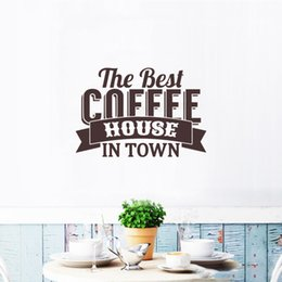 $enCountryForm.capitalKeyWord NZ - Best Coffee House Cafe Wall Stickers Modern Kitchen Quote Logo Vinyl Art Home Decor Wall Decal Window DIY
