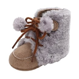 $enCountryForm.capitalKeyWord UK - New Fashion Baby Autumn And Winter Boys Girls Hair Ball Tie Solid Color Boots Toddler Shoes