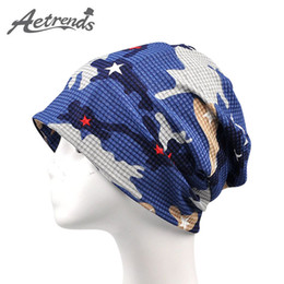 ef59f05031a2d  AETRENDS  2017 Newly Multi Use of Collar Scarf and Hats for Men or Women  Summer Hat Thin Camouflage Hip Hop Beanies Z-5009