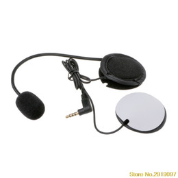 Discount microphone plugs - Motorcycle Helmet Headset For Microphone Speaker Soft Accessory For Motorcycle Intercom Work with 3.5mm-plug