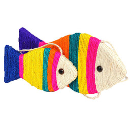 $enCountryForm.capitalKeyWord Australia - Fish shaped sisal cat scratch board plate cat toy grinding claw board simulation fish Scratching Post For Kitten Cat Scratcher