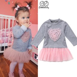 7f5a466fb6 Adorable Cute Kids Baby Girls Princess Long Sleeve Tutu Lace Dress Fille  Jolie Tulle Outfit Clothes vestidos Dresses