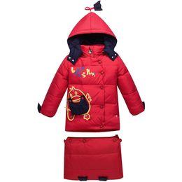 $enCountryForm.capitalKeyWord UK - Baby Swaddling Snowsuits Winter Down Jacket For Girls Children Down Coat Boys Kids Cartoon Hooded Outerwear Baby Sleeping Bag