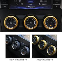 Subaru partS online shopping - Car styling For Volkswagen VW Tiguan L SUBARU FORESTER conditioning knob decoration ring aluminum decorative stickers car parts