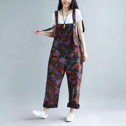 4ac2116b656 Rompers Womens Jumpsuit 2018 Spring Summer Plus Size Overalls for Women  Print Combinaison Femme Loose Bodysuit Korean Fashion