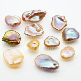 Metal farM online shopping - 2018 Freshwater Pearl Farm mm Loose Irregular Shape Fresh Water Pearl Beautiful Unique Pearl Spot