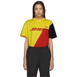$enCountryForm.capitalKeyWord Canada - Vetements T Shirt 2018 New Yellow Red Black Splice DHL Vetements T Shirt Streetwear Vetements DHL Patch Work Women Men T Shirts