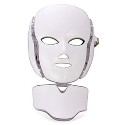 Anti Aging Face Masks UK - 7 Color Photon PDT Led Light Therapy LED Face And Neck Mask Anti Aging Led Photon Facial Mask Photodynamics PDT Skin Care With Microcurrent