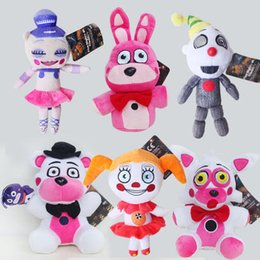 "wholesale plush fox toys 2021 - High Quality 100% Cotton 6 Style 8"" 20cm Five Nights At Freddy's FNAF Fox Bear Bonnie Plush Toy For Child Holiday Gifts Wholesale"