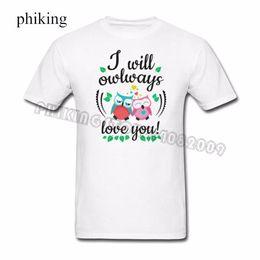 201899d545 Owls T-shirt Men Man's Classic Custom Short Sleeve 3XL Couple Tee Shirts