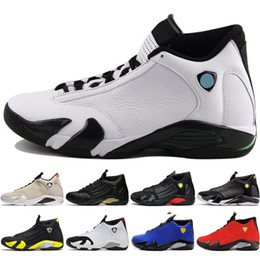 01e3f1f211c3f6 14 14s mens Basketball Shoes Desert Sand DMP Last Shot Indiglo Thunder Red  Suede Oxidized Black Toe men Sports Sneaker outdoor designer