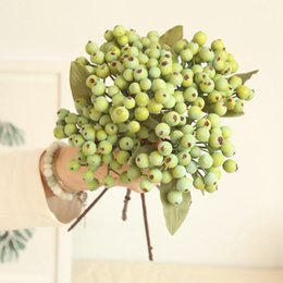 Wholesale Single Small California Berry Simulation Flower Berry Blueberry Fruit Fake Artificial Plant Living Room Decoration Plastic Manual