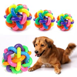 $enCountryForm.capitalKeyWord Canada - Pet sound toys rainbow knitting colorful Small bells ball environmental protection puzzle toys Training Cat and Dog Essential