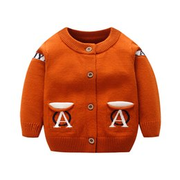 e42d227a4 Fashion Letter Baby Sweater Long Sleeve O-Neck Cardigan For Boys Rabbit  Hair Warm Soft Girls Sweater Autumn Baby Boys Clothing