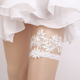bow harness Canada - Lady Sexy Garter Lace Garter Belt Legs Ring Harness Women Belt Bow Wedding Garter bridal girl