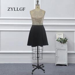 $enCountryForm.capitalKeyWord NZ - ZYLLGF Black Prom Dress A Line Halter Neck Crystal Beaded 2018 Prom Party Gown Keyhole Back Graduation Dress Formal Gown Big Size