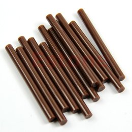 Discount glued human hair extensions - 12pcs Brown Keratin Human Hair Extensions Glue Stick Beauty Accessory Selling