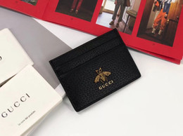 Best Brand leather purses online shopping - Bee best quality designer cardholder with box women brand Genuine Leather square wallet luxury leather purse women Money wallet
