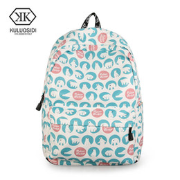 mochila back pack NZ - 2018 Women Backpack Preppy School Bags Back Pack Large Capacity Bookbag Cute Bear Printing Backpacks Girls Knapsack Lady Mochila