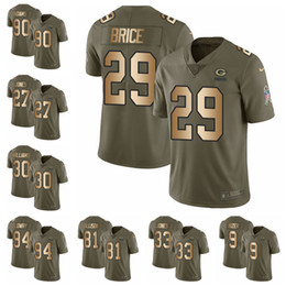 b58d3e2c8 Green Bay Limited football Jersey Packers Olive Gold 2017 Salute to Service  80 Jimmy Graham 12 Aaron Rodgers 23 Jaire Alexander 28