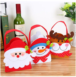 Wrapping Paper Gift Sets Australia - 3 pcs set New Christmas Decorations Christmas Candy Bags Stickers Dolls Gift Bags Children Christmas Day Apple Bags