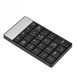 China Black USB 2.4G Wireless Numeric Keypad 23 Keys Small Mini Keyboard With Calculator Key For Accounting Tablet Laptop Desktop cheap small keyboards suppliers
