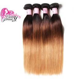 Human Hair 27 Australia - Beauty Foreve Brazilian Peruvian Wholesale Silk Straight Ombre Hair 4 Bundles T1B 4 27 Cheap Bulk 100% Human Hair Top Brazilian Virgin Hair