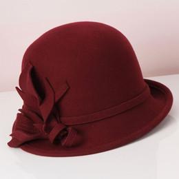 Dama Lana Sombreros Fedroas Sombreros Moda para la Mujer Cúpula Gorra  Restauradora Antigua Sombreros Sombreros Estéreo Elegante Flor Sombrero  Pescador B- ... 35b5bc3af45e
