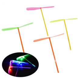 Boy Toys Helicopter NZ - Fashion Led Lighted Flying Bamboo Dragonfly Helicopter Boomerang Frisbee Flash Children Kids Boys Toys Christmas gift