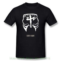 Black Paintings NZ - Custom T Shirts Men's Tech N9ne Face Paint Logo T-shirt Black Summer New Men Cotton T-shirt