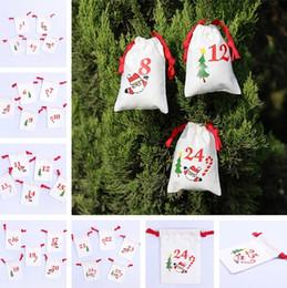 Tea gifT packs online shopping - Newest Christmas drawstring bags cartoon Santa Sack Bags creative gifts bag home cotton candy tea packing Storage bag I365