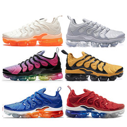 Compre Nike Air TN Plus Barato Maxes VM TN Plus Shoes USA Grape RED In Metallic White Orange Triple Black Silver Para Mujer Zapatillas Deportivas Para