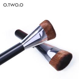 $enCountryForm.capitalKeyWord Australia - O.TWO.O Foundation Makeup Brushes Flat Top Kabuki for Blending Liquid Cream Mineral Powder Buffing Stippling Concealer Cosmetics Tool
