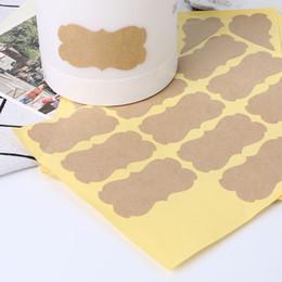 Blank kraft stickers online shopping - 120Pcs Vintage Blank Kraft Label Handmade Sealing Sticker For Gift Packaging DIY