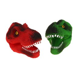 Puppets Red UK - 1Pcs Dinosaur Hand Puppet Creative Design Figure Toys Gloves Green Red Children Kid Toy Unisex Gift Size: 10*12*18cm