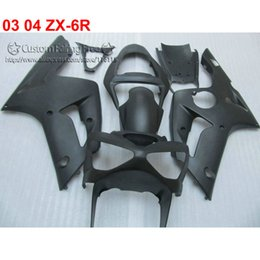 $enCountryForm.capitalKeyWord Australia - Lowest price fairing body kit for kawasaki Ninja ZX-6R 03 04 black custom fairings set ZX6R 636 2003 2004 WW37