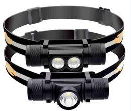 Led strobe headLights online shopping - XM L2 Mini LED Headlamp USB Rechargeable Batttery Portable Waterproof Fishing Bike Cycling headlight Torch light Aluminum Alloy