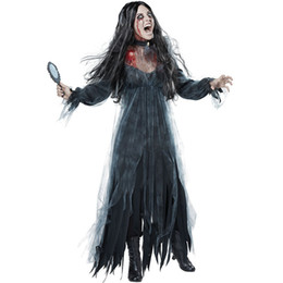 Wholesale bride costumes online – ideas European and American ladies Halloween ghost bride loss of costume game stage vampire devil costume Theme Costume