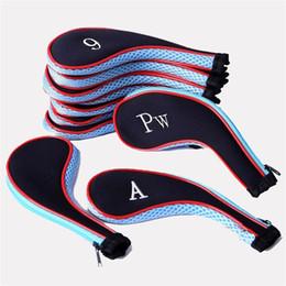 10 unids Neopreno Golf Head Case Práctico Número de Impresión Estuche Traje Club Brassie Utilice la mayoría de los Accesorios Ligeros Venta Caliente 21gf ZZ en venta