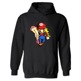 China 2017 Hot Sale Funny Super Mario Hoodies Men Super Mariorun Hoodies and Sweatshirts Pattern Printed Clothing Plus Size 4XL cheap super mario clothing suppliers