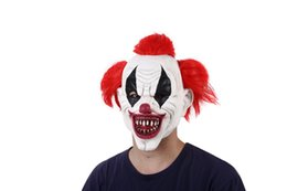 $enCountryForm.capitalKeyWord UK - Red Hair Scary Latex Clown Pennywise Costume Party Mask Funny Joker Clown Masks Halloween Horror Wizard Masks Ghost Mask