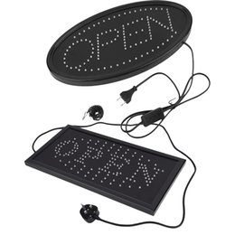 Electronics Signs UK - Large LED Open Sign for Business Displays: Oval Light up Sign Open Electronic Lighted Signs for Hair Salons, Hotels