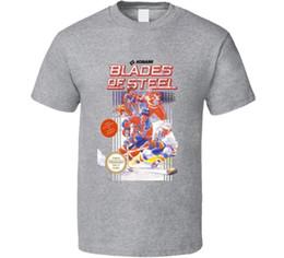 $enCountryForm.capitalKeyWord NZ - Blades Of Steel Nes Box Art Video Game T Shirt Cartoon t shirt men Unisex New Fashion tshirt Loose Size top ajax