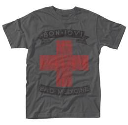 T-shirt 'Mauvais remède' de Bon Jovi - NOUVEAU OFFICIEL! en Solde