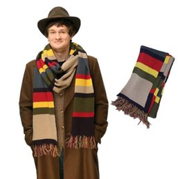 Chinese  Doctor Who Scarf Stripes Tom Baker Scarf Winter Warm Super Long Shawl Cosplay Costume Gift Doctor Who Scarf Party Favor CCA10303 10pcs manufacturers