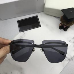 9f683ffe29 Italy brand square shaped sunglasses rimless metal men women luxury designer  vintage eyewear 59mm oversized eyeglasses with white box 2190