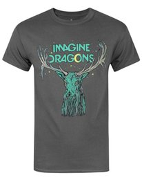 China Official Imagine Dragons Elk Men's T-Shirt Mens 2018 fashion Brand T Shirt O-Neck 100%cotton T-Shirt suppliers