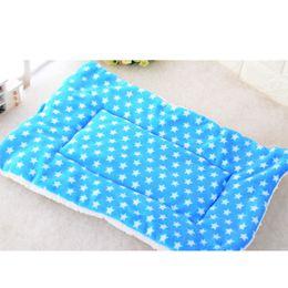 Autunno Inverno Pet Dog Sleep Warm Soft Cushion Stampa Addensare flanella Cotone Materasso Gatti Cani Mat Puppy Coperta Bed Pad in Offerta